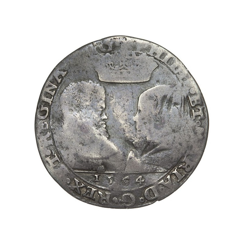 Philip and Mary Silver Sixpence