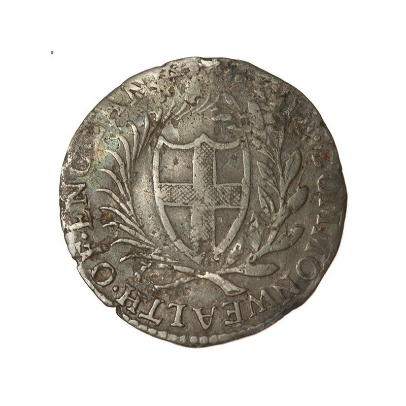 Commonwealth 1654 Silver Sixpence