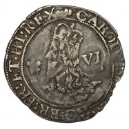 Charles I Aberystwyth Silver Sixpence
