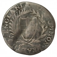 Commonwealth 1653 Silver Sixpence