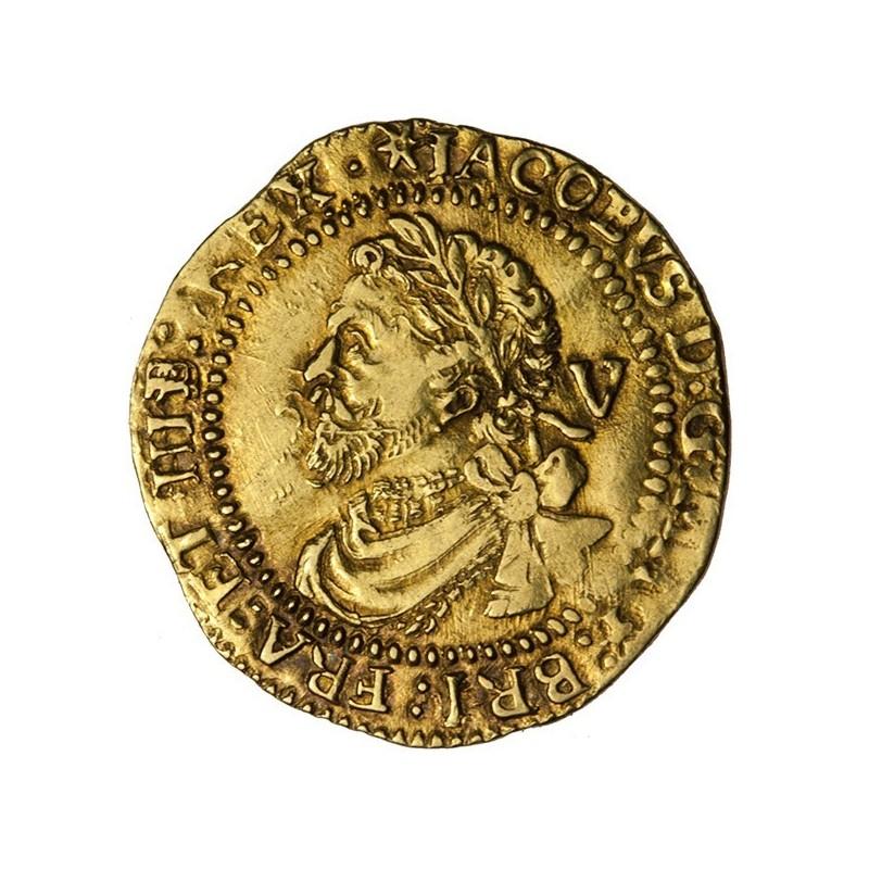 James I Gold Quarter Laurel