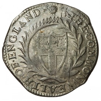 Commonwealth 1653 Silver Halfcrown