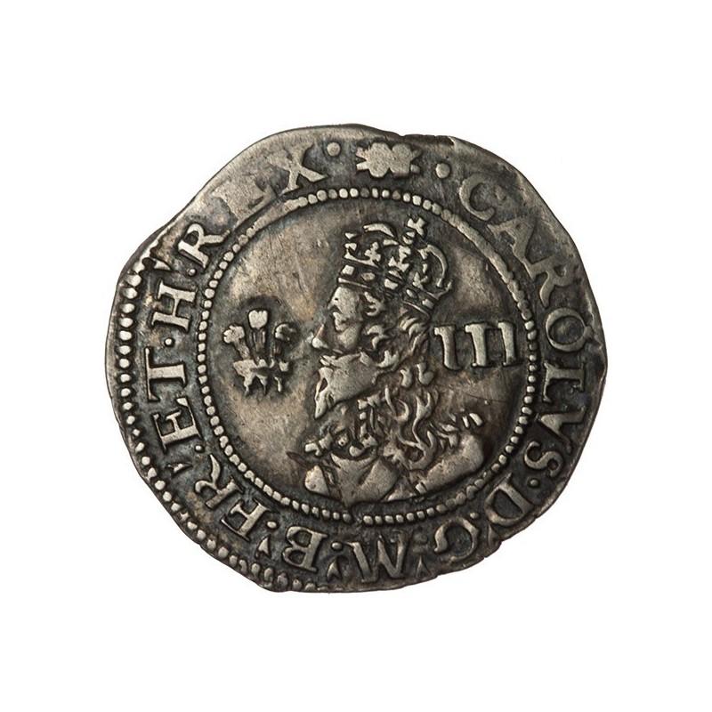 Charles I Silver Aberystwyth Threepence