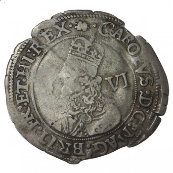 Charles I Oxford Silver Sixpence