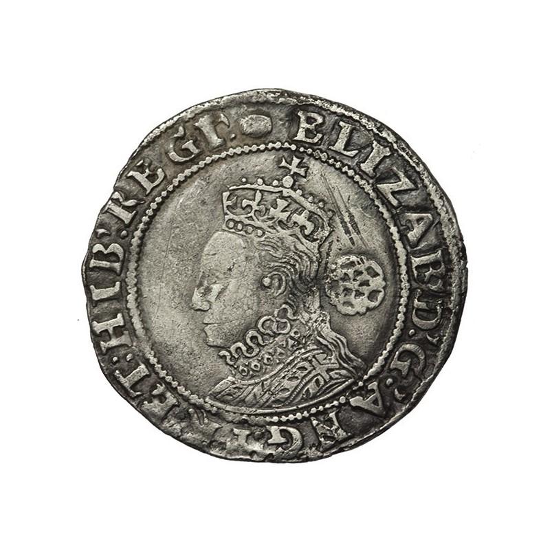 Elizabeth I Silver Sixpence 1593