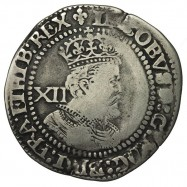 James I Silver Shilling Plume over Shield