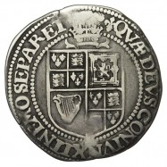 James I Silver Shilling Plume over Shield