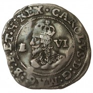 Charles I Bristol Silver Sixpence