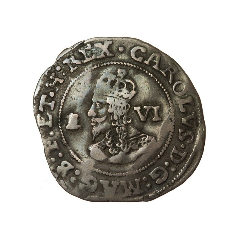 Charles I Bristol Silver Sixpence
