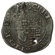 Charles I Silver Exeter Threepence