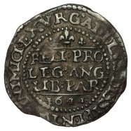 Charles I Silver Oxford Threepence