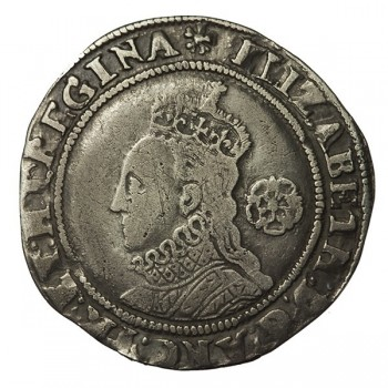 Elizabeth I Silver Sixpence 1574