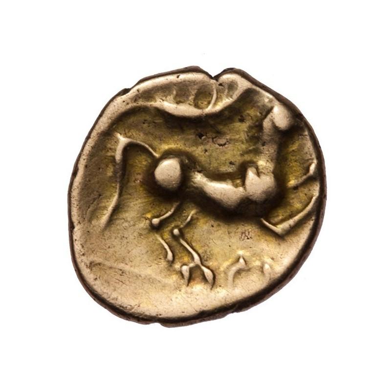 Catuvellauni 'Plastic Type' Gold Quarter Stater
