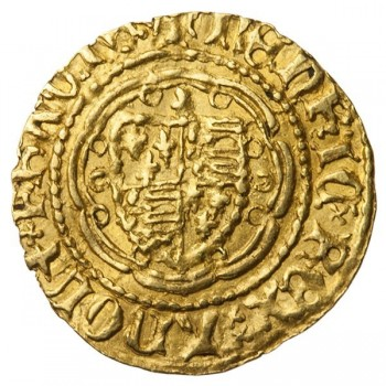 Henry V Gold Quarter Noble Continental Imitation