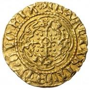 Henry V Gold Quarter Noble Continental Imitation
