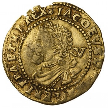 James I Gold Quarter Laurel