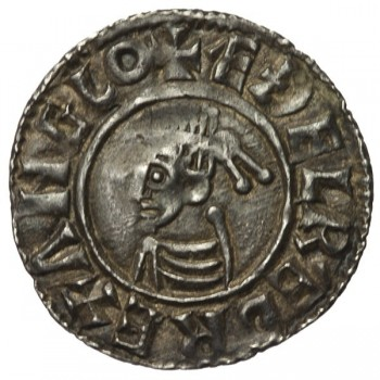 Aethelred II 'Last Small Cross' Silver Penny