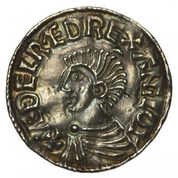 Aethelred II 'Longcross' Silver Penny Wilton