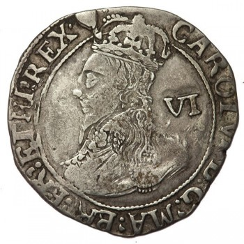 Charles I Silver Sixpence