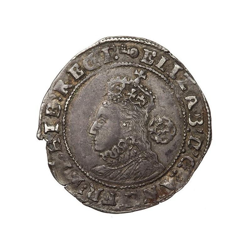 Elizabeth I Silver Sixpence 1595