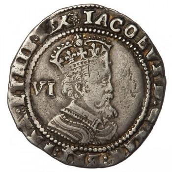 James I Silver Sixpence 1621