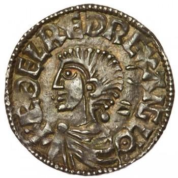 Aethelred II 'Longcross' Silver Penny Huntingdon