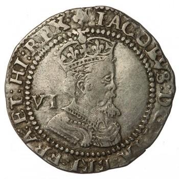 James I Silver Sixpence 1624