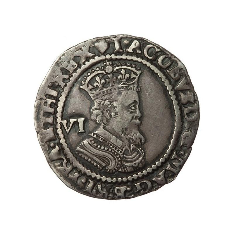 James I Silver Sixpence 1623