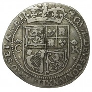 Charles I Silver 12 Shillings - Scottish