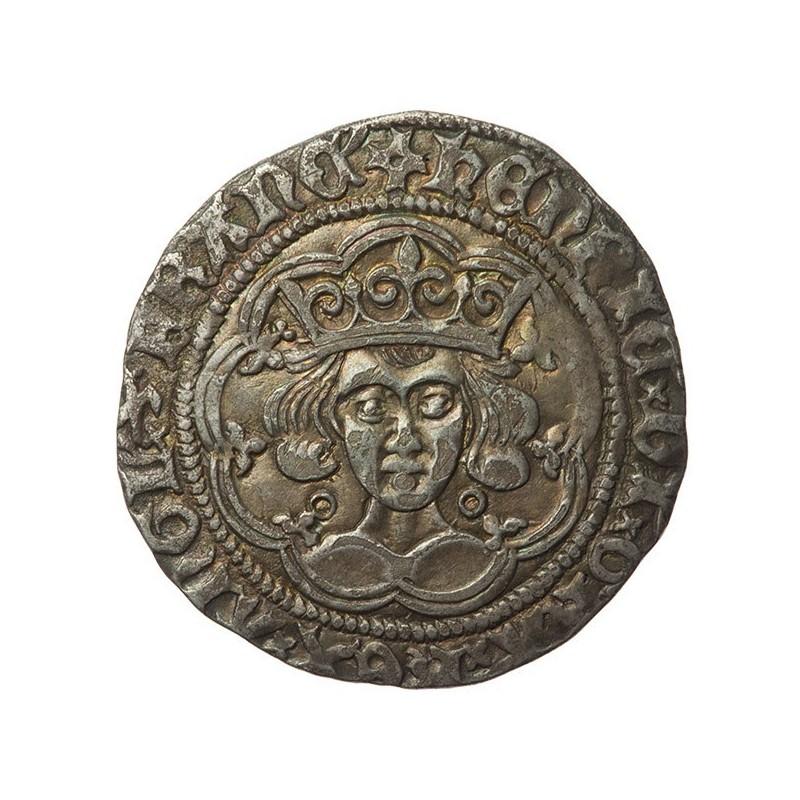 Henry VI Silver Groat Annulet-Trefoil