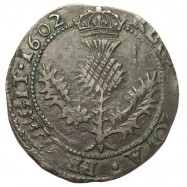 James VI Silver Half Thistle Merk - Scottish