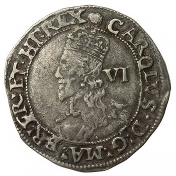 Charles I Silver Sixpence
