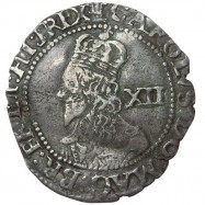Charles I Oxford Silver Shilling