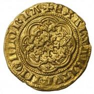 Edward III Gold Quarter Noble Ga/E Mule