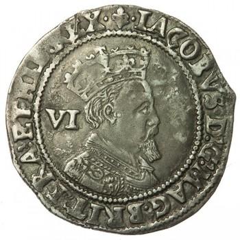 James I Silver Sixpence 1604