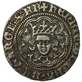 Henry VI Silver Halfgroat Annulet London