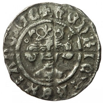 Henry V Silver Penny - altered die of Henry IV