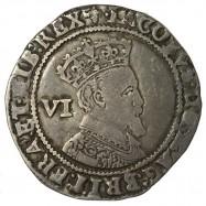 James I Silver Sixpence 1605