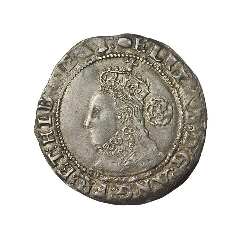 Elizabeth I Silver Sixpence 1592