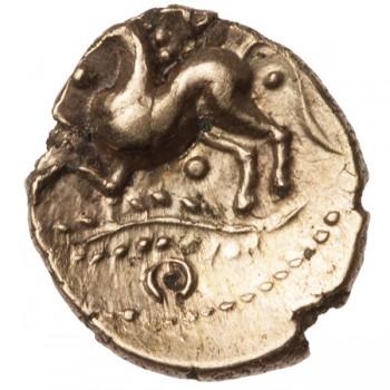 Trinovantes 'Dubnovellaunos Trefoil' Gold Quarter Stater