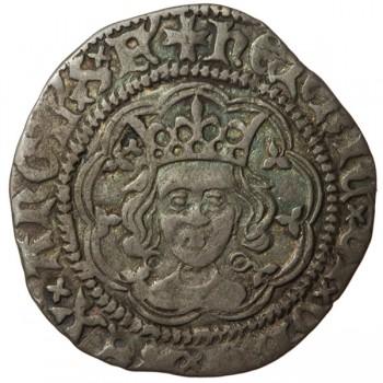 Henry VI Silver Halfgroat Annulet-Trefoil/Annulet Mule