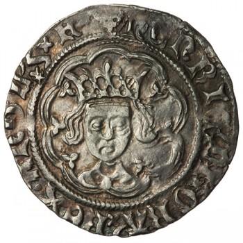 Henry VI Silver Halfgroat Leaf-trefoil/Trefoil Mule