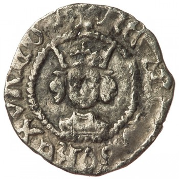 Henry VI Silver Halfpenny Pinecone-mascle