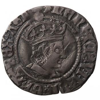Henry VII Silver Halfgroat Mule