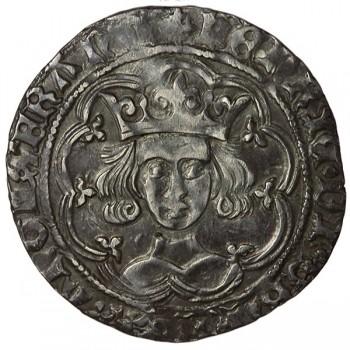 Henry VI Silver Groat Leaf-trefoil