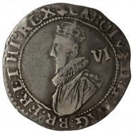 Charles I Silver Sixpence 1628