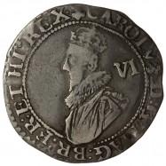 Charles I Silver Sixpence 1628
