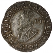 Charles I Silver Sixpence 1627