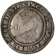 James I Silver Shilling -...