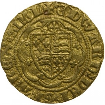 Edward III Gold Quarter Noble Calais